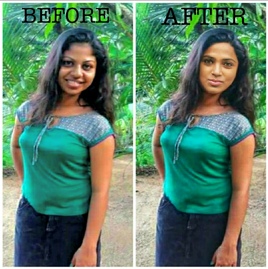 Any 2 photos face change background remove text editing effect editing