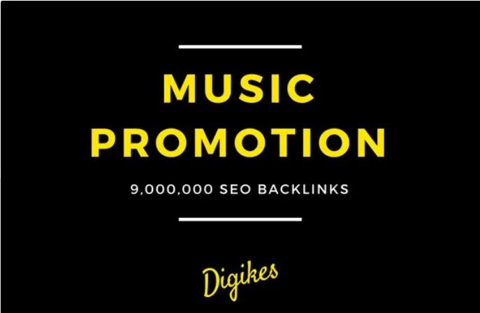 I will provide 900,000 SEO backlinks for music promotion