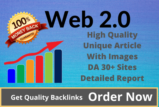 I will create manually 15 Web 2.0 high Authority Backlinks for your website