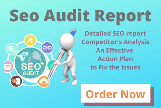 I will audit your website and provide a detailed SEO report
