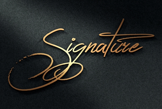 i will logo design and logo signature in 24 hour
