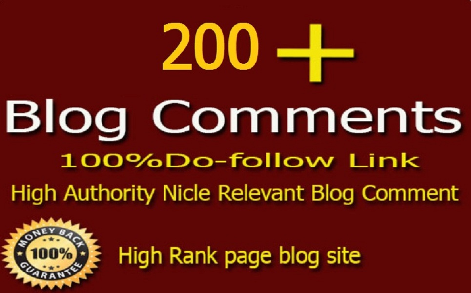 I Will Submitt 200 High Quality Dofollow Blog Comment