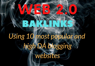 I will do 10 high quality web 2 0 backlinks for your website