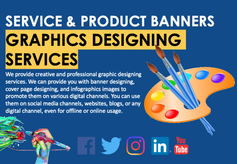 Service Banner Graphics Designing Services