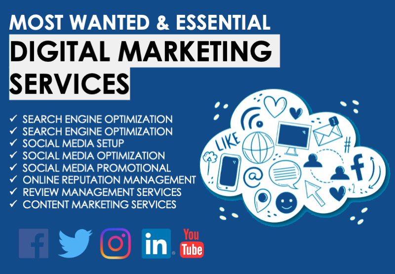 Most Wanted & Essential Digital Marketing Services for 30 days