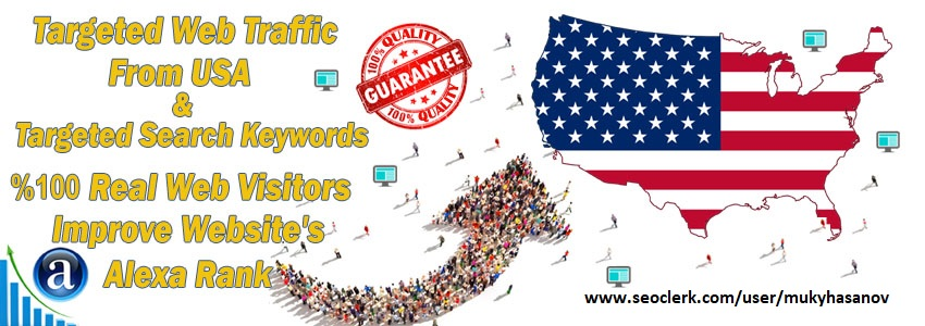 Buy Targeted Geo Web Traffic From USA, United States