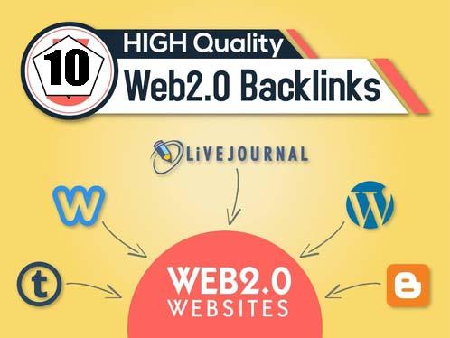 I will Provide 20 High quality DA/PA Web 2.0 backlinks