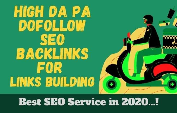I will do 100 high da pa dofollow SEO backlinks for link building