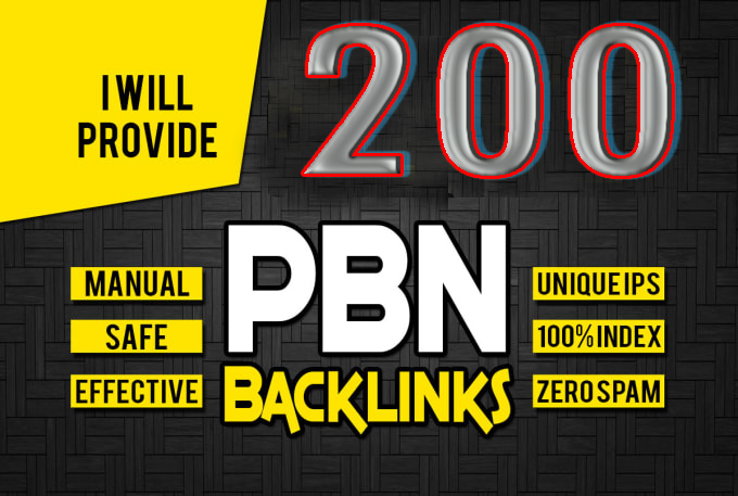 I Will Build 200 Manual High Authority PBN Backlinks