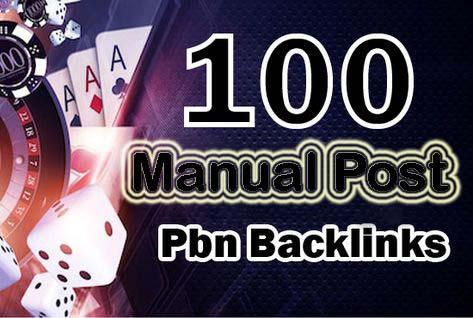 I Will Build 100 Manual High Authority PBN Backlinks