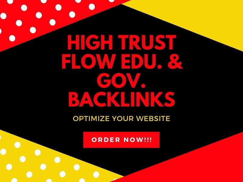 I will build 10 EDU. & GOV. TF backlinks from high authority