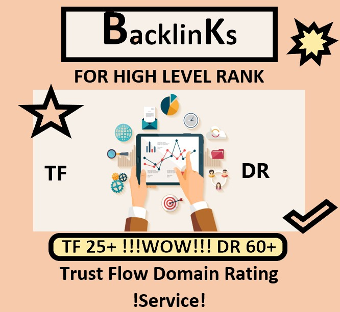 I will increase your Trust Flow (TF) and Domain Rating (DR) For The High Rank by 30 Backlinks.