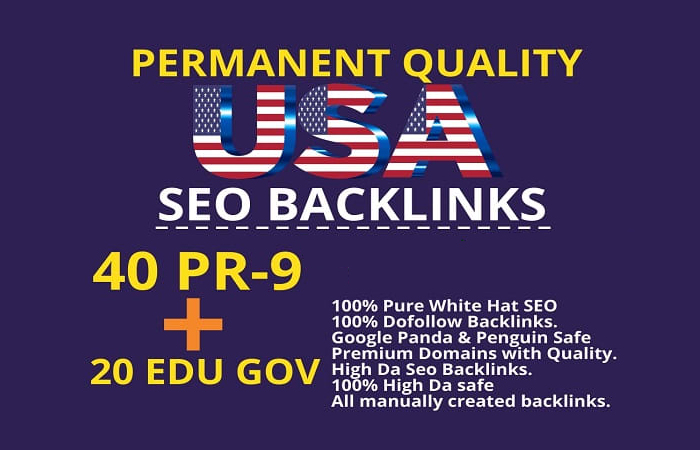 manually 60 high da permanent quality SEO backlinks