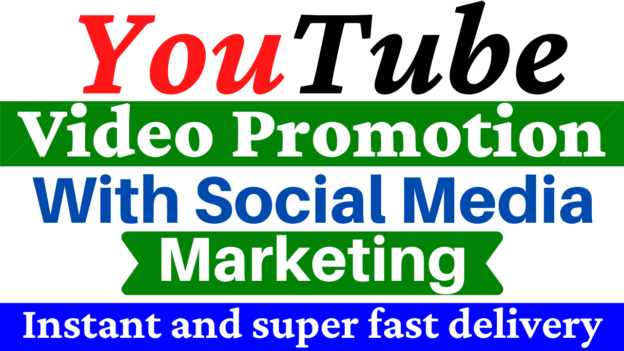 Manually YouTube Video Promotion with Social Media Marketing