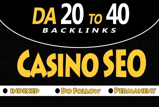 I will Provide 100 Pro Casino PBN backlinks Da 20 to 40