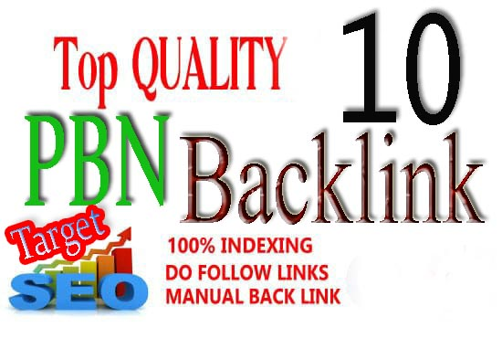 I will build 10 pbn post top quality backlinks on high metrics sites