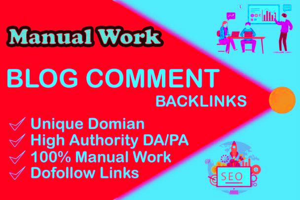 I will provide 50 blog comment dofollow backlink seo