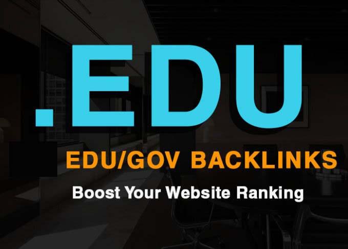 Do Manually 100 Backlinks From Edu And Gov Domain