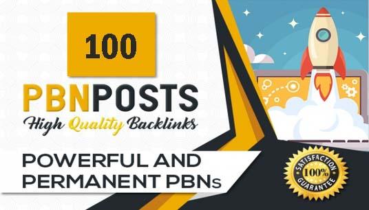Provide you 100 Powerful PBN Backlinks