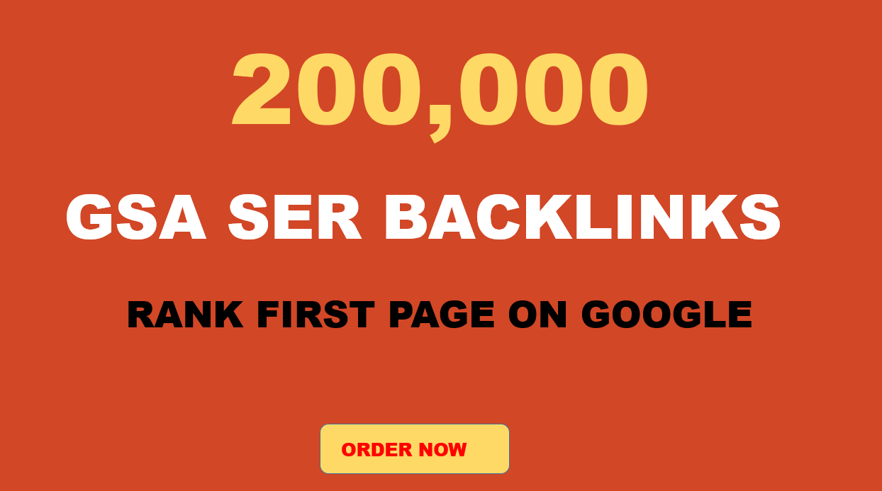 Special offer 2,00,000 quality Verified GSA Backlinks for ranking your Website on Google Page