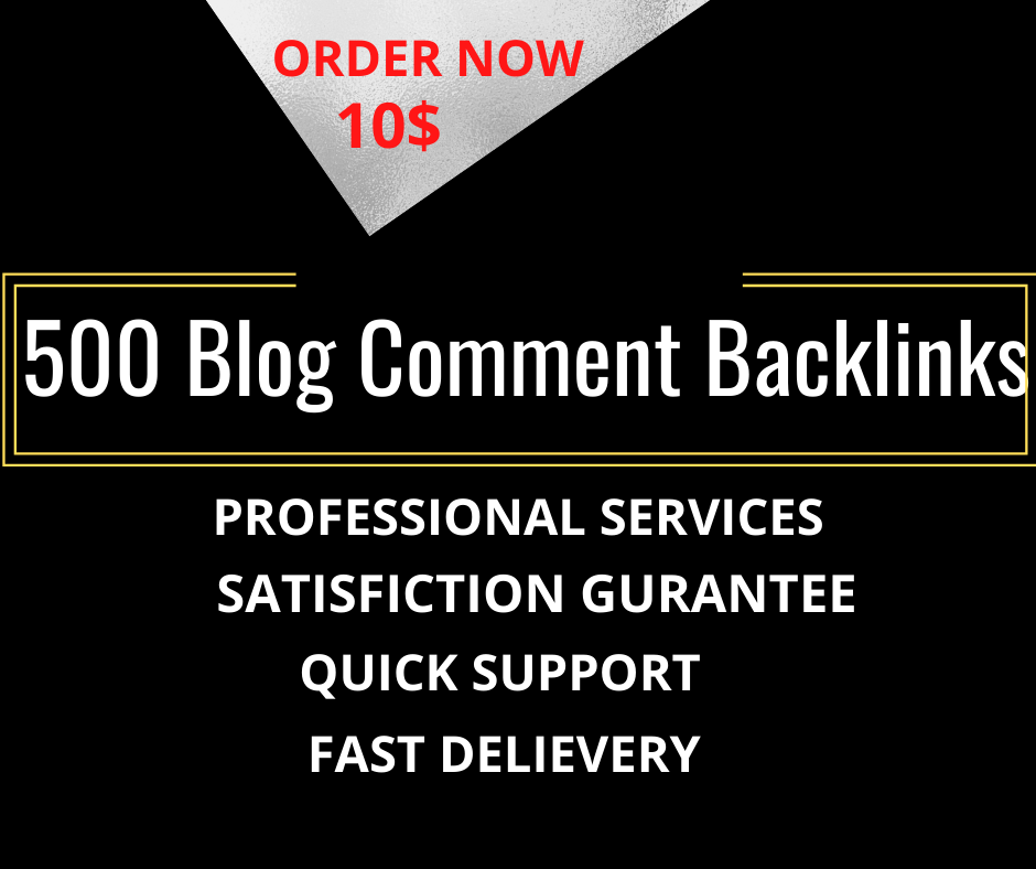 I will provide 500 blog comments backlinks on unique domains