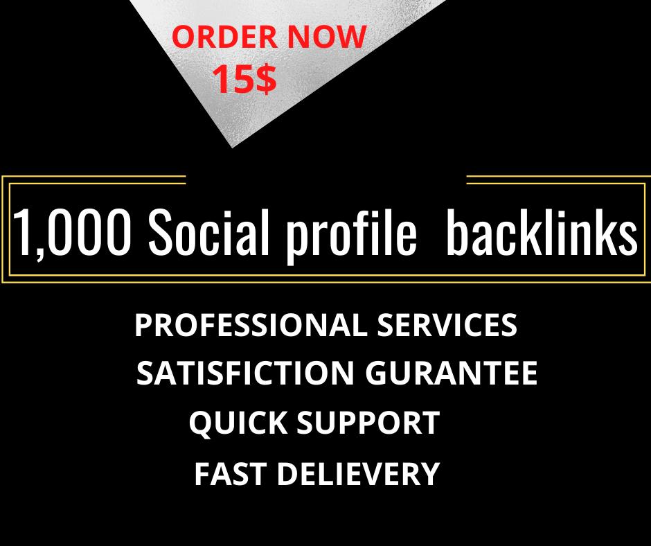 I will do 300 high da social media profiles SEO backlinks
