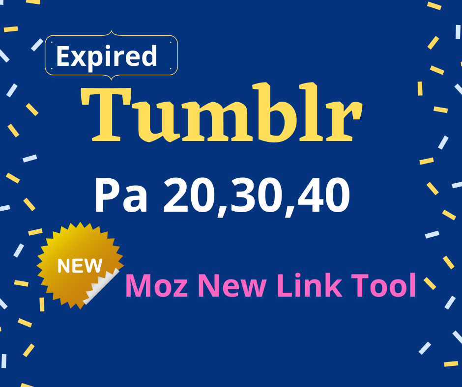 I will provide 101 expired tumblr Pa 20, 30, 40