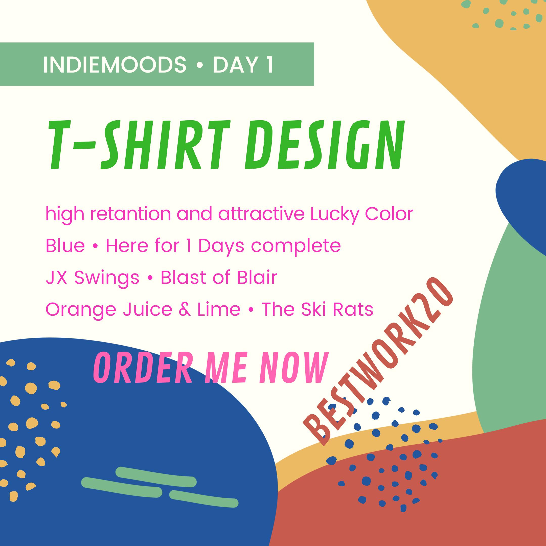 High quality t-shirt design and logo attractive medium quality design