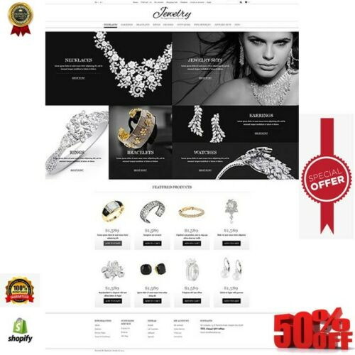 Shopify store dropshipping jewelry website unlimited free trial within 12 hours