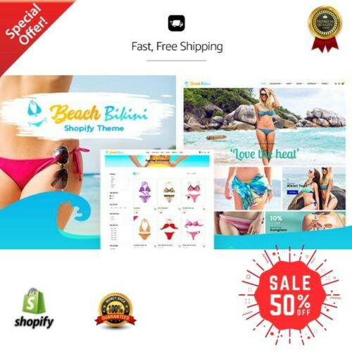 Shopify Dropshipping Bikini Fashion Store/Website with 40 winning Products