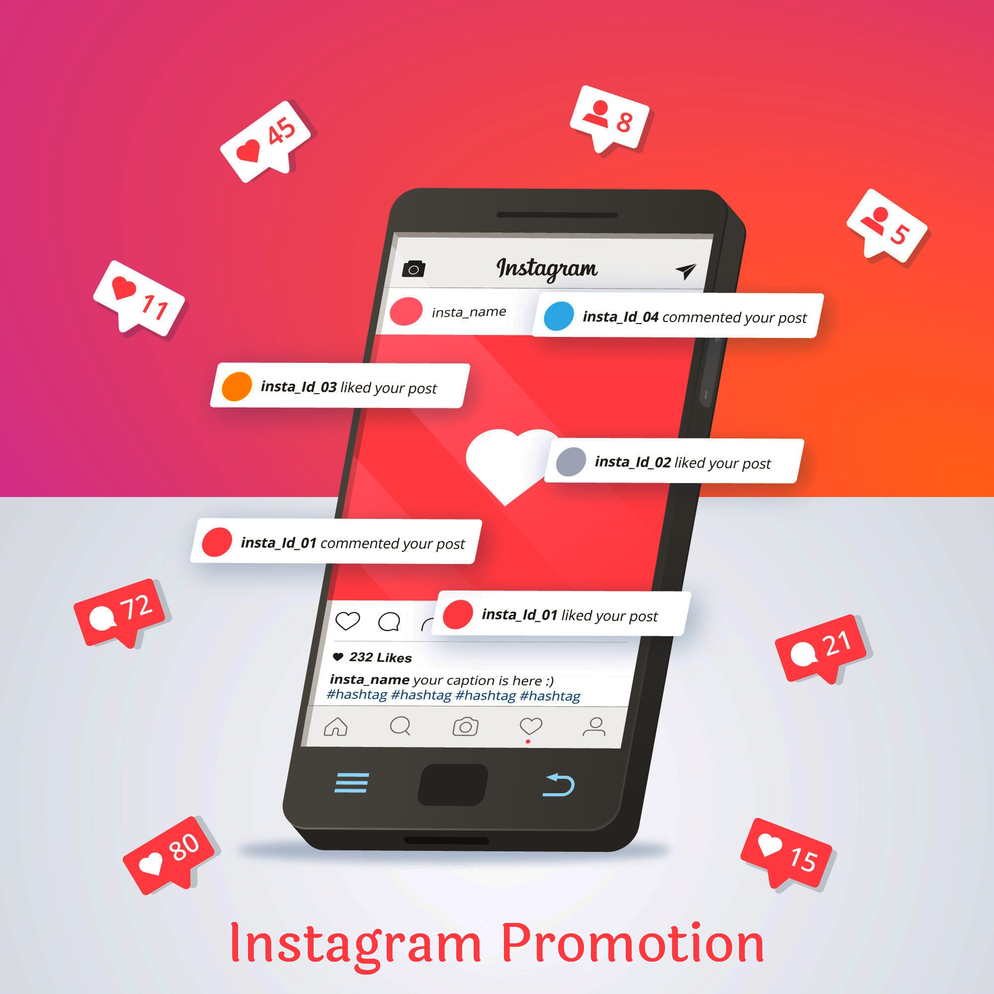 I'll promote your instagram to grow faster and get unbelievable traffic