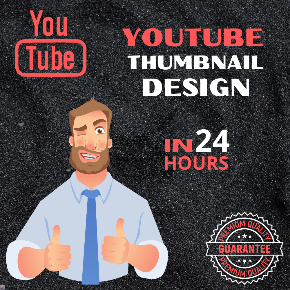 I will design an amazing YouTube thumbnail in 24H