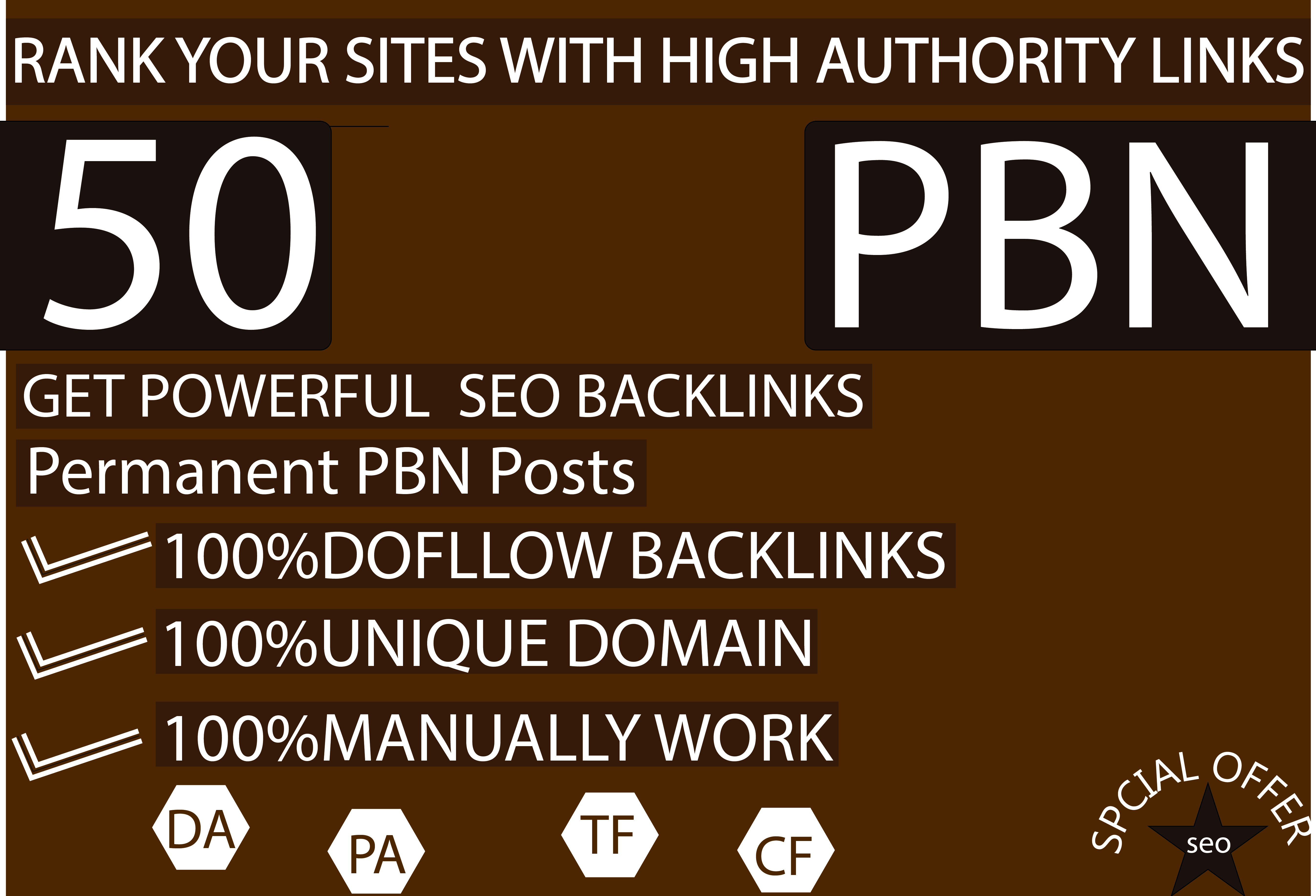 I build high metrics DA 50 SEO pbn for Backlinks