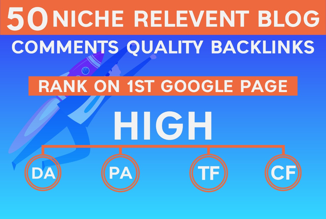 Create 50 high quality niche relevant blog comments SEO backlinks