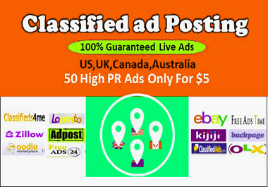 I Will Publish 50 Classified Ads for Your Website