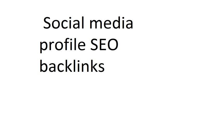 I will do social media profile SEO backlinks
