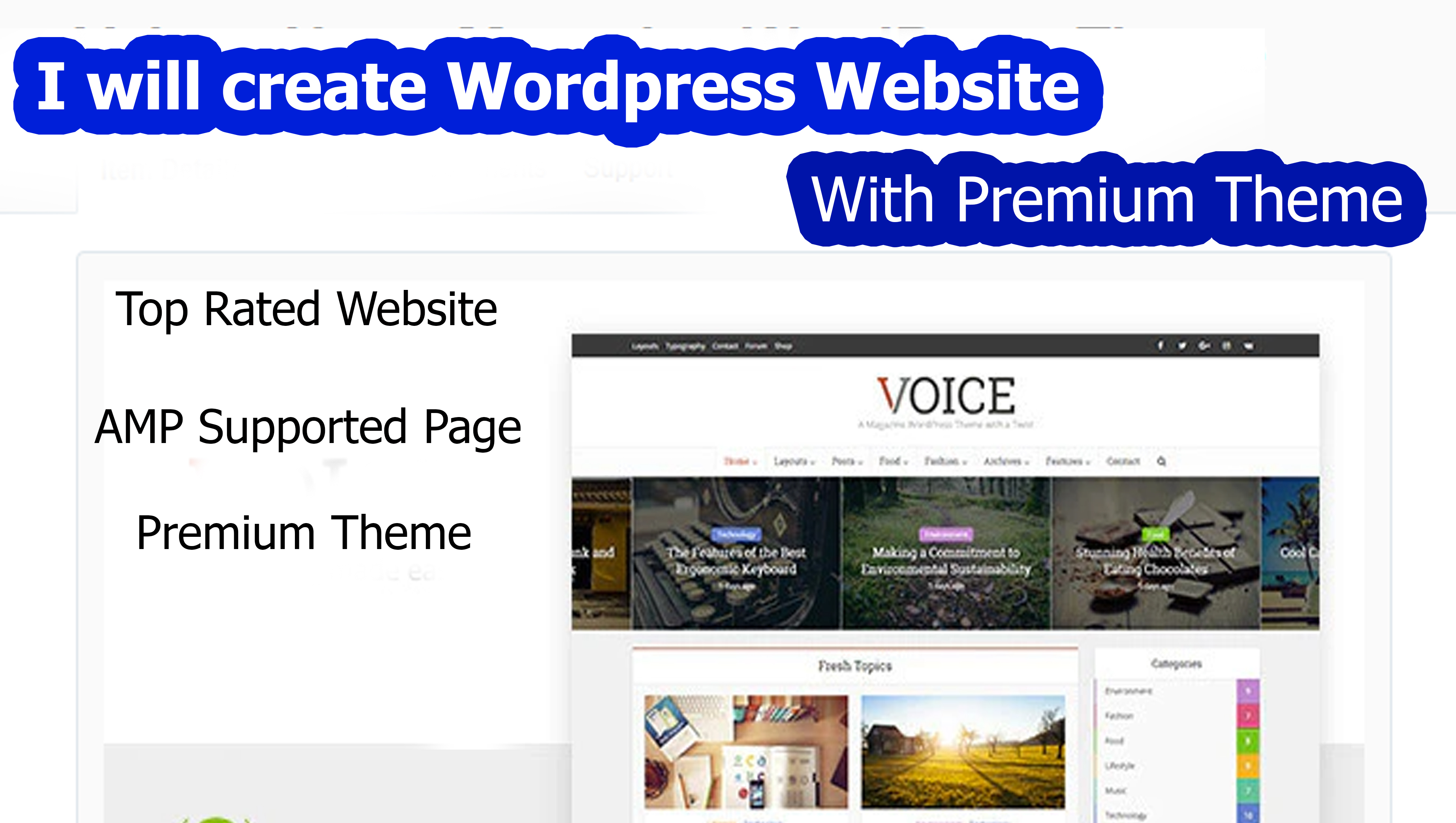 I will create wordpress website with premium theme