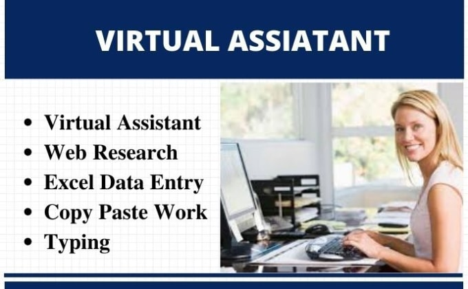 I will be your virtual assistant for web research, copy paste, typing and data entry jobs