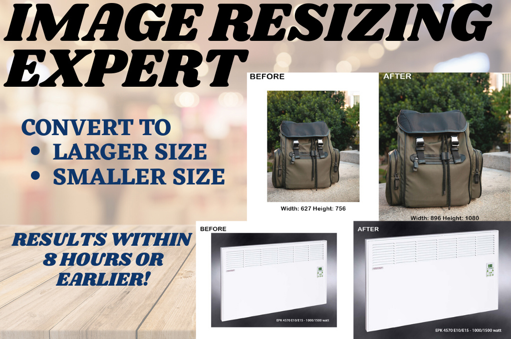Resize images without losing quality 10 images per order