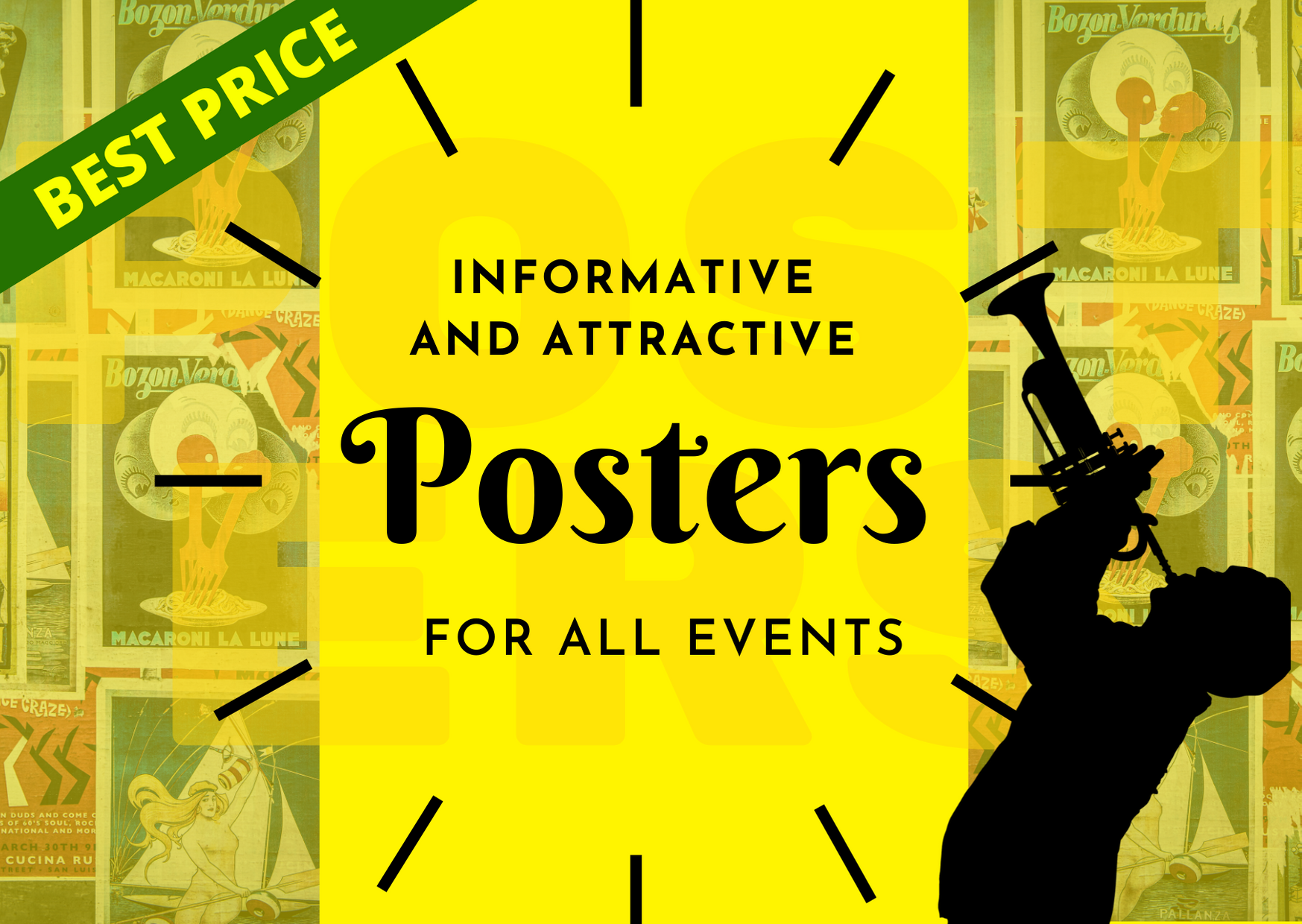 I will create 5 unique posters for you