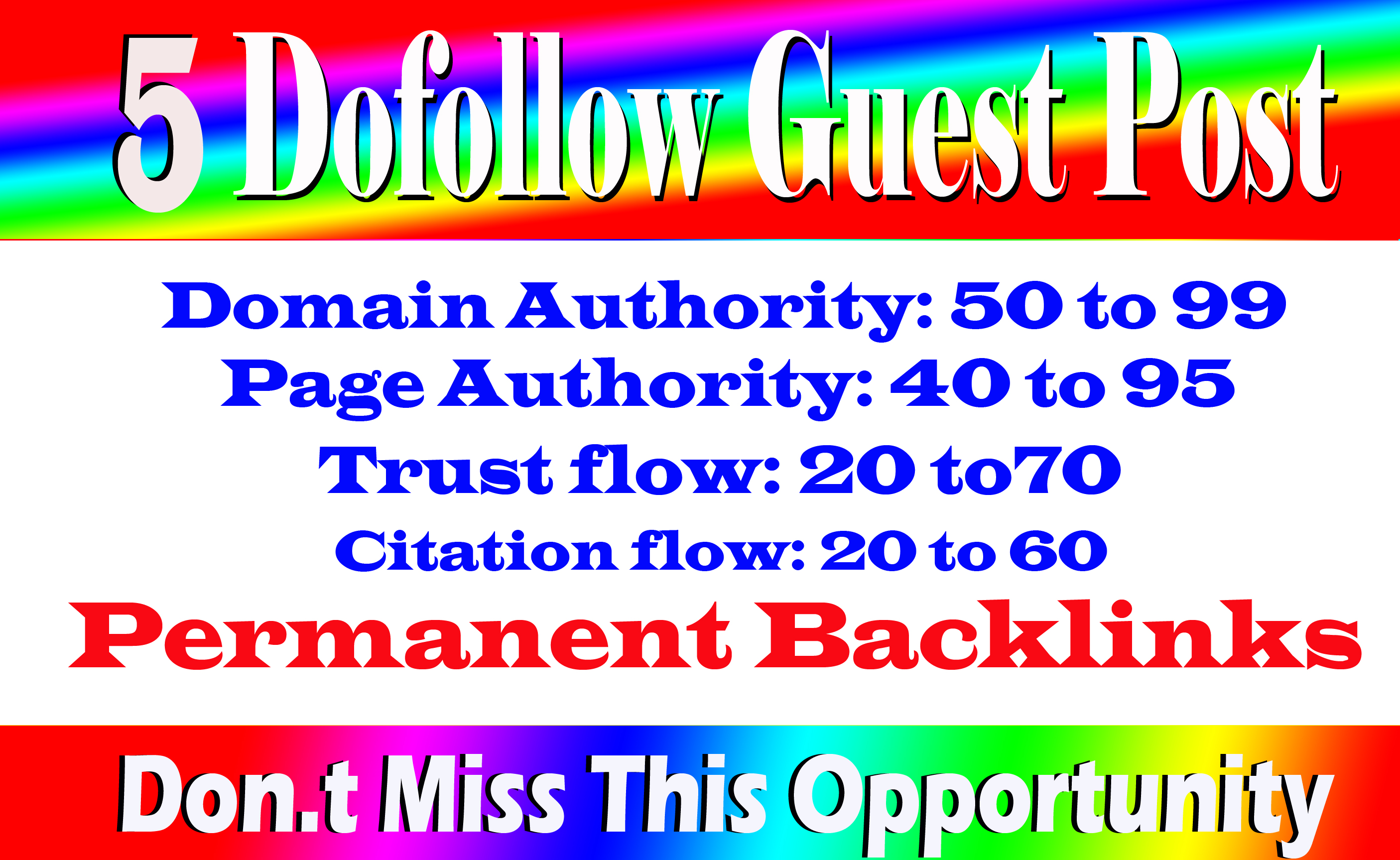 Write Publish 5 Dofollow Guest Post On High Traffic And High DA 90+ Sites With Index Guarantee