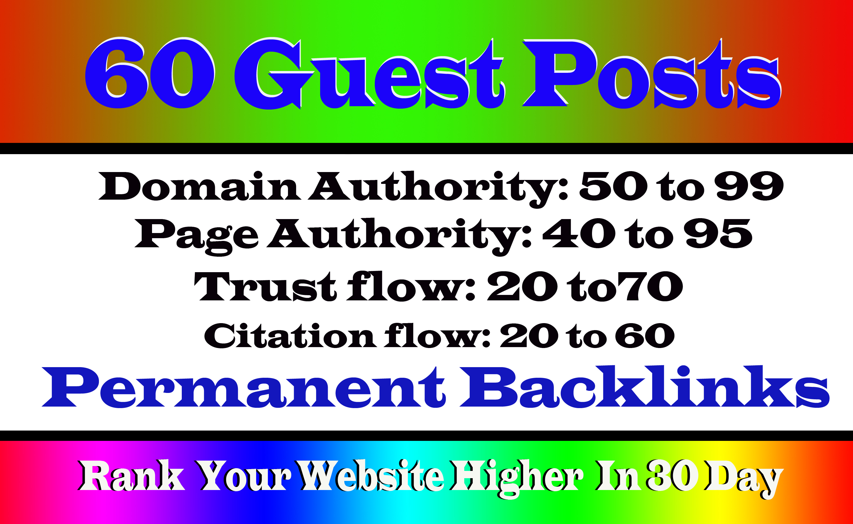 Write And Publish 60 Guest Post On High DA55 98 Websites