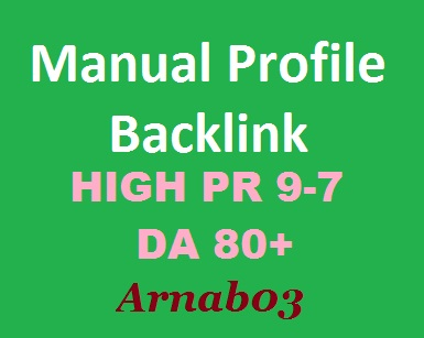 Manually Create 30 High Authority Profile backlink
