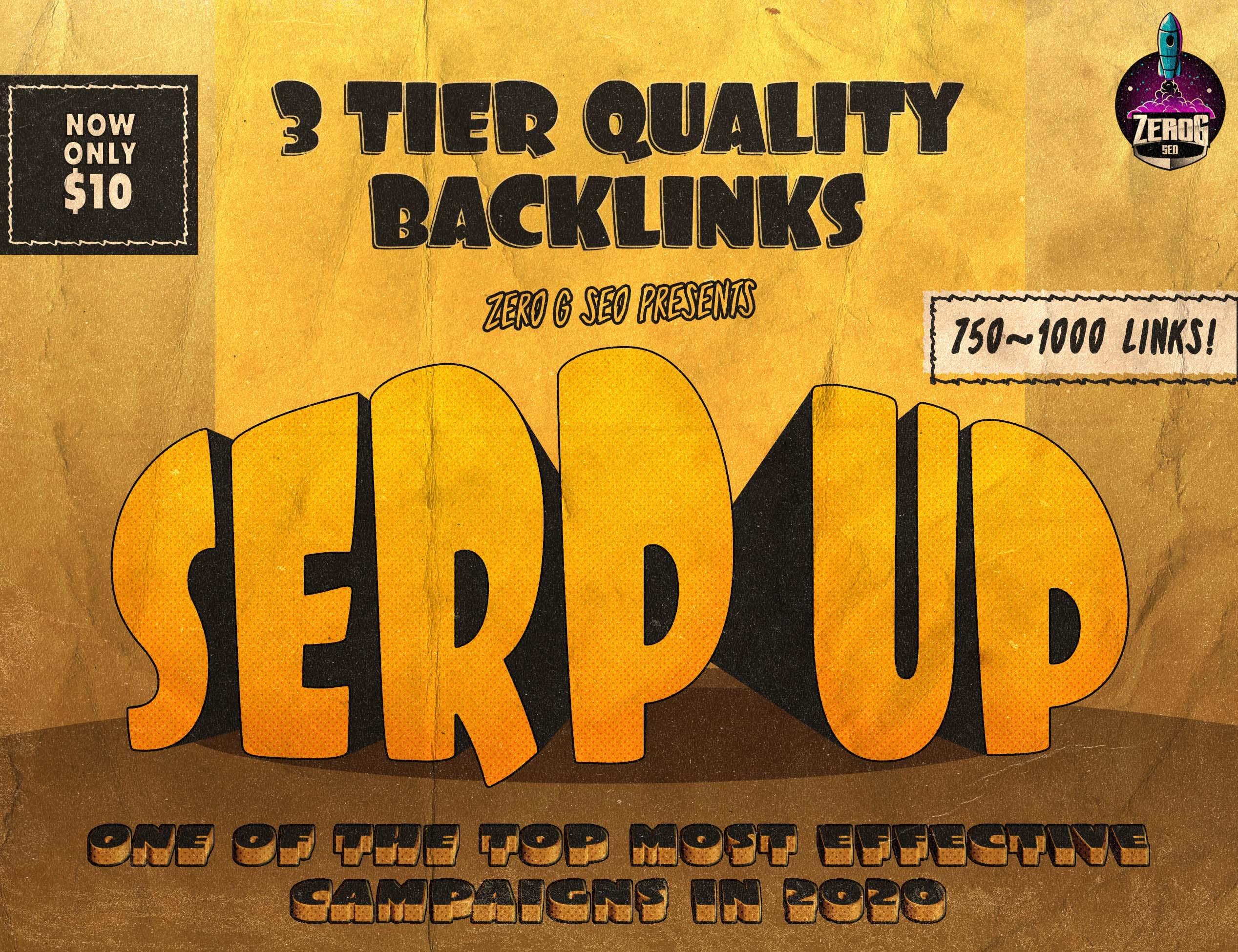 SERP UP Campaign 400 High DA 30+ With 1200 Total Links