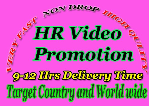 Non Drop YouTube videos promotion and video marketing avibale
