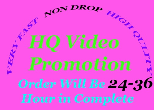 You will get Natural High quality YouTube video promotion