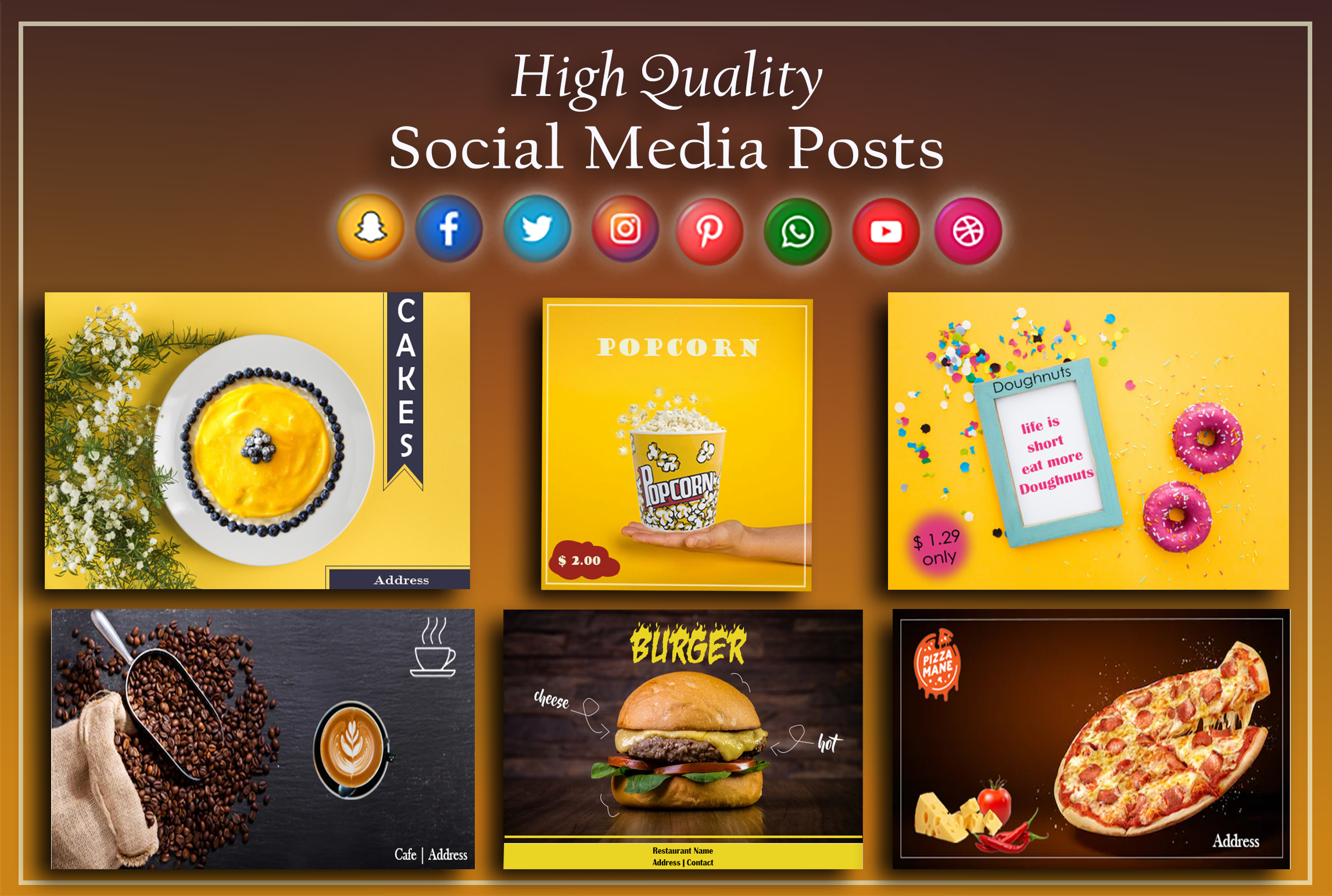 High quality social media ads, banners, covers and headers