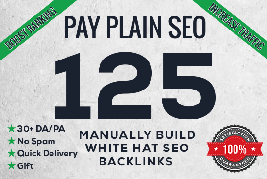 I will create 125 Manual Backlinks with High DA PA with quick delivery