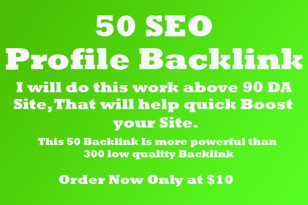 I will manually build 90 plus DA profile Backlink