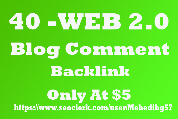I will Create Manual 40 HIGH DA Web2.0 Blog Network With niche related articles and Indexing
